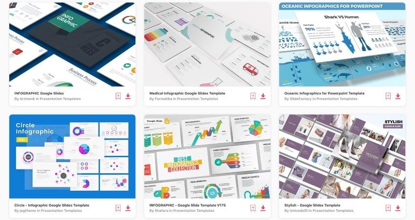 Elements infographic templates