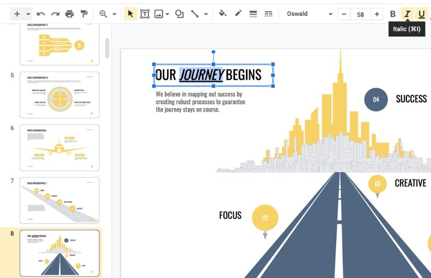 Font infographic themes