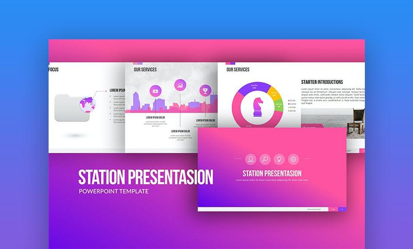 Station presentation deck