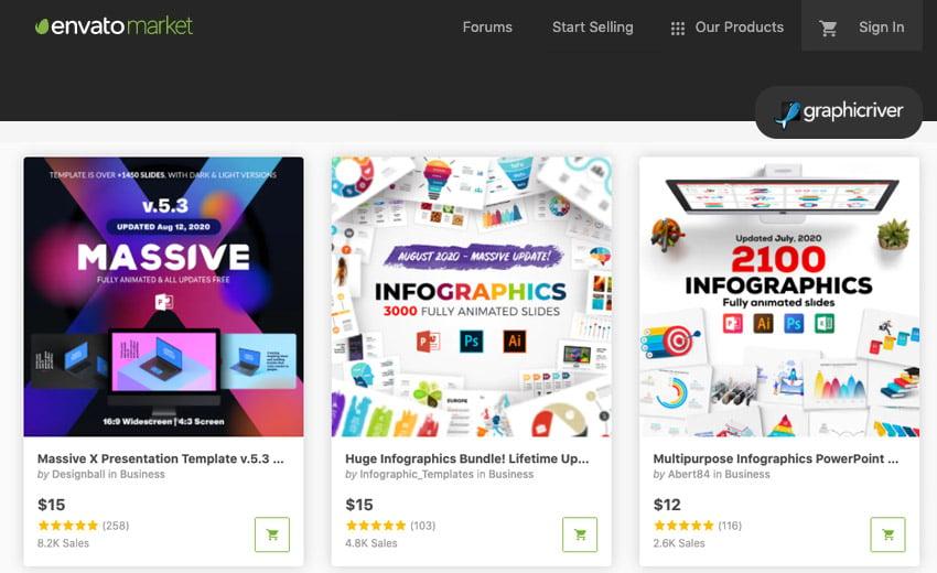 GraphicRiver PowerPoint presentation icon