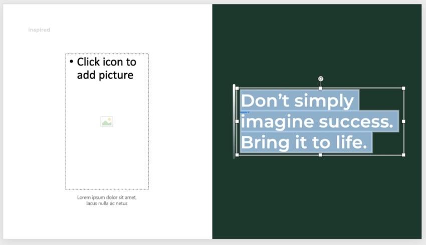 Inspiring PowerPoint templates