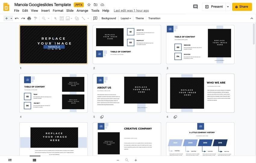 Google Slide deck templates
