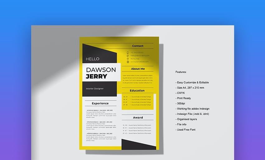 Resume vol 93 modern resume template