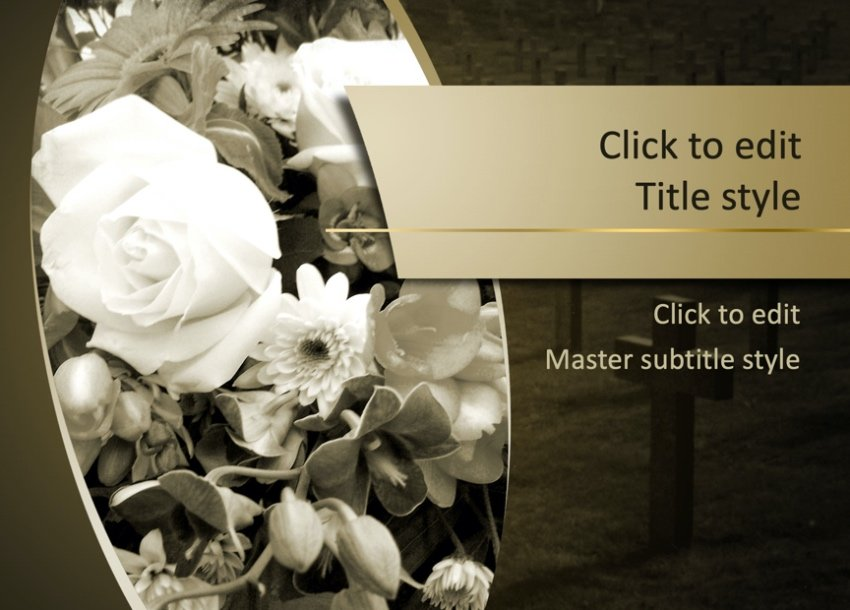 Free funeral PowerPoint template
