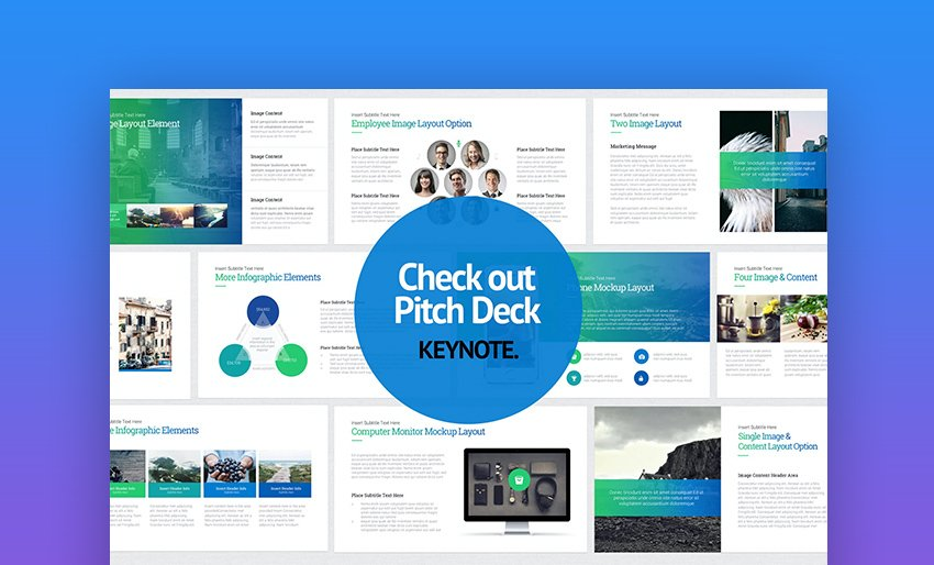 Colorful Apple pitch deck