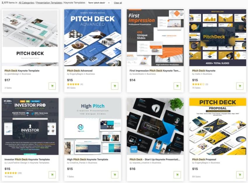 GraphicRiver Keynote pitch deck
