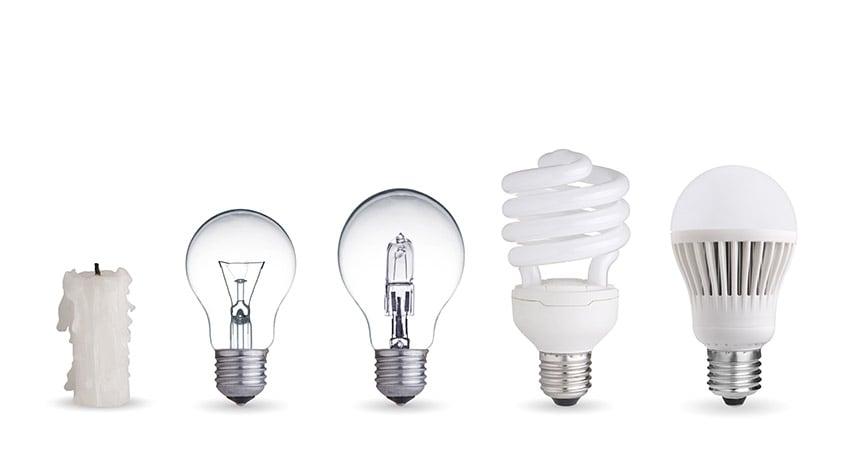 Light bulbs temperature