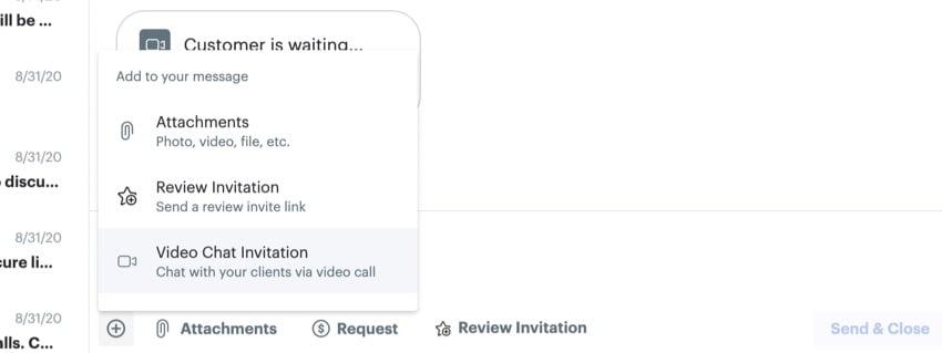 Request video chat invitation
