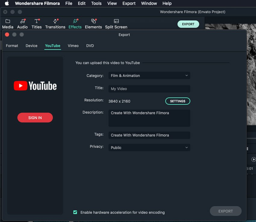 Export Filmora tutorial