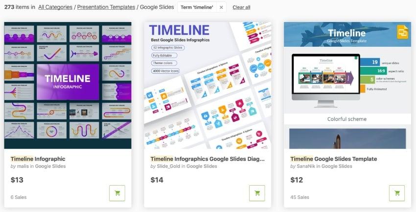 GraphicRiver timeline Google Slides