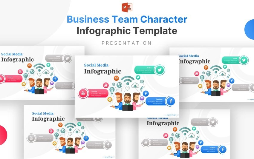 infographic animated characters for PowerPoint