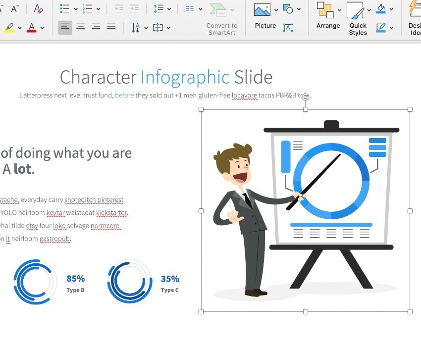 Animated characters for PowerPoint