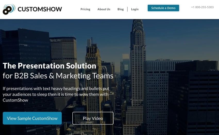 Customshow presentation programs