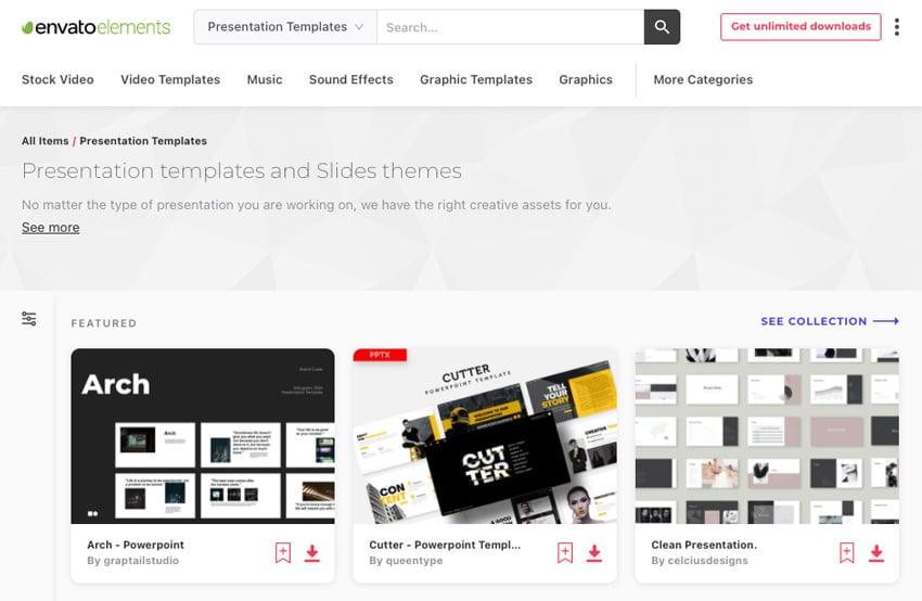 Elements presentation software