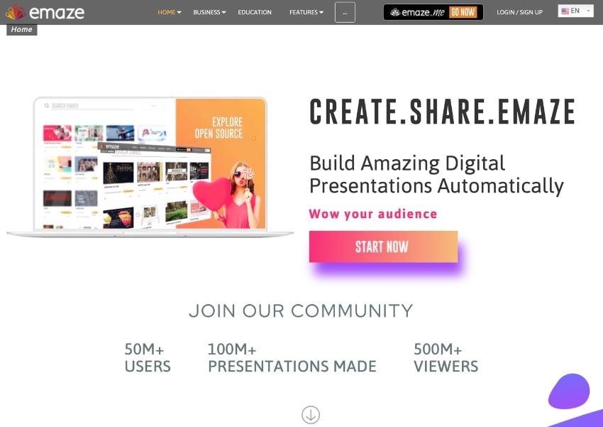 Emaze best PowerPoint alternatives