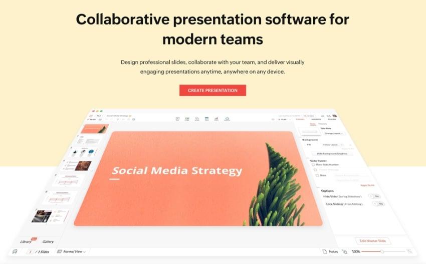 Zoho best presentation software