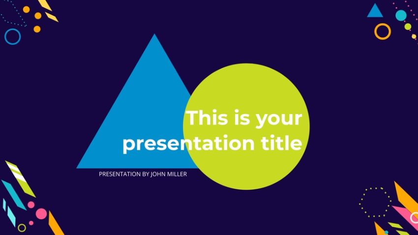 Creative math presentation