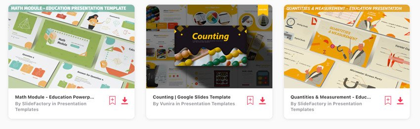 Envato Elements math Google Slides theme