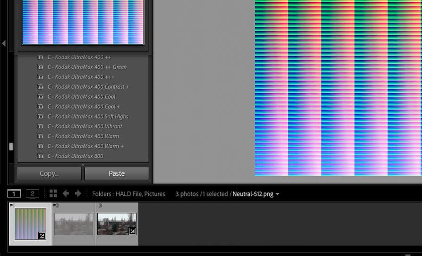 Paste adjustments image