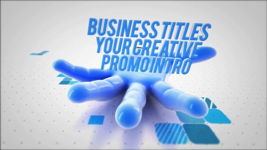 Business titles Premiere Pro