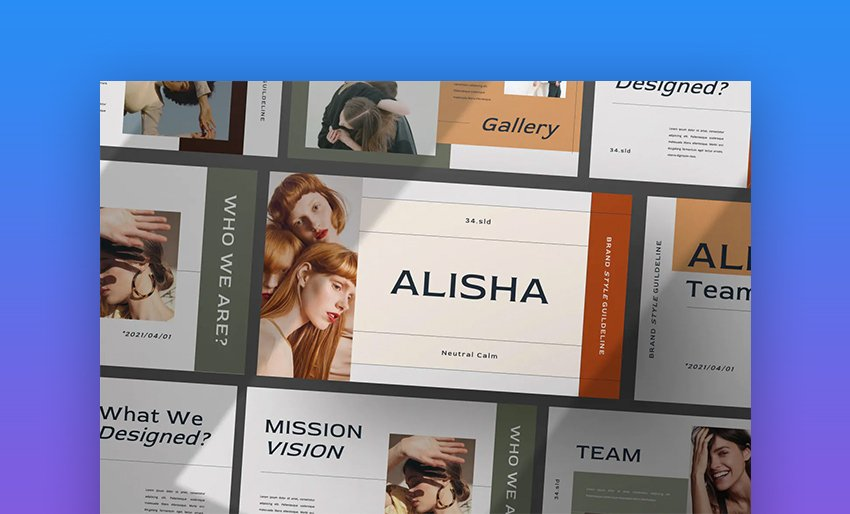 Alisha PPT online template