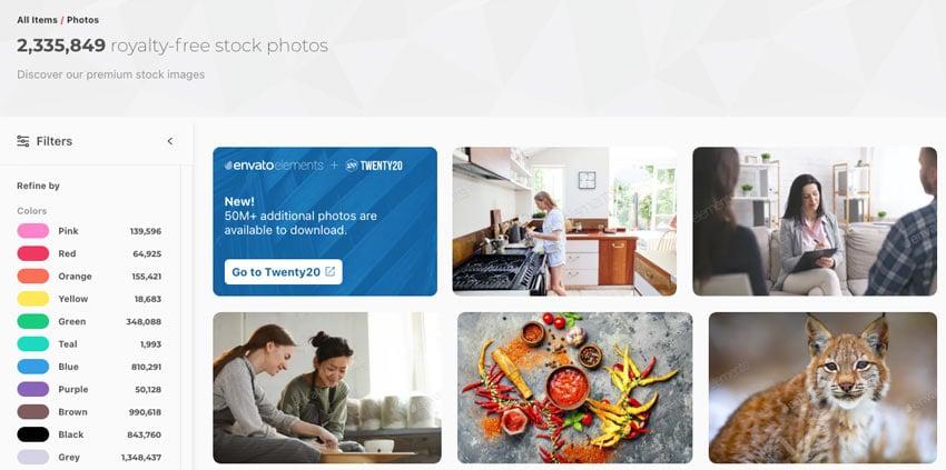 Envato Elements stock photos