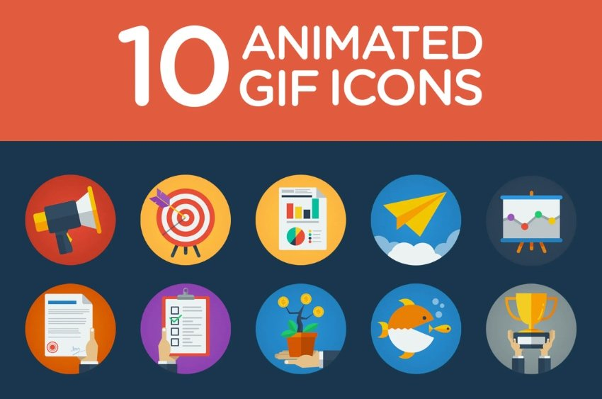 Animated PowerPoint icons