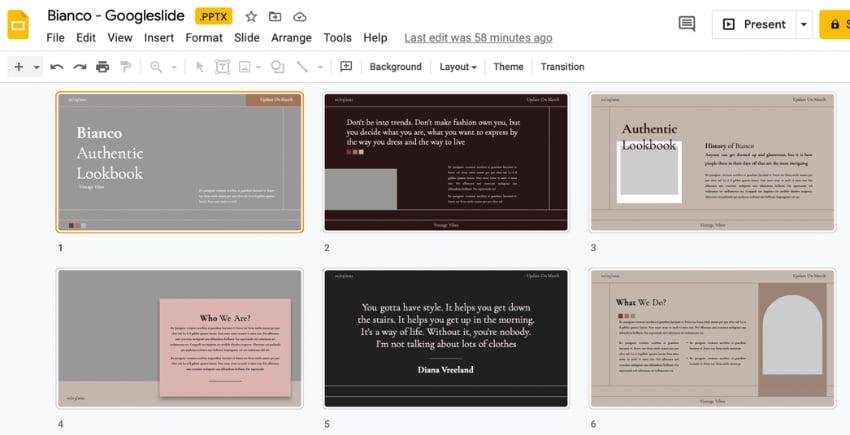 Aesthetic Google Slides themes
