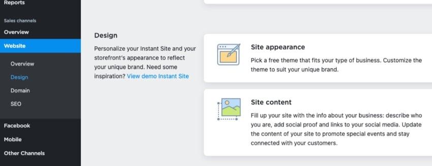 Ecwid site design