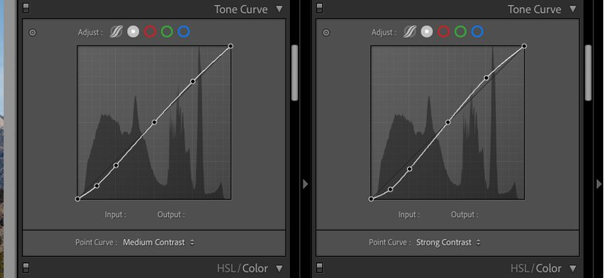 side by side tone curves