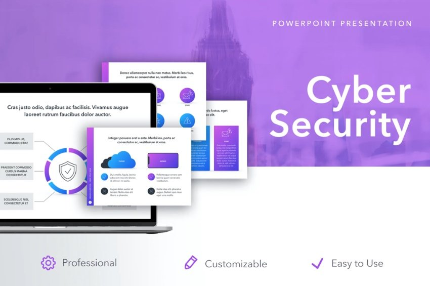 Cyber security PPT template