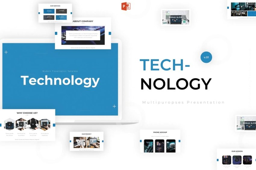 Technology cyber security presentation PPT 2021