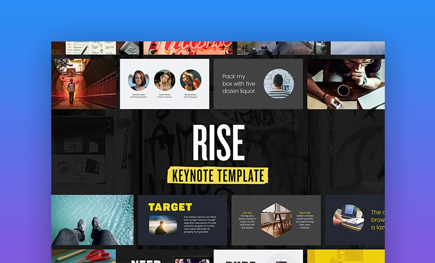 Rise Keynote templates