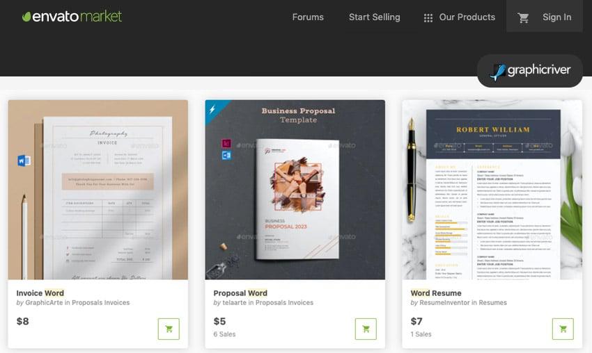 Graphicriver Microsoft Word flowchart