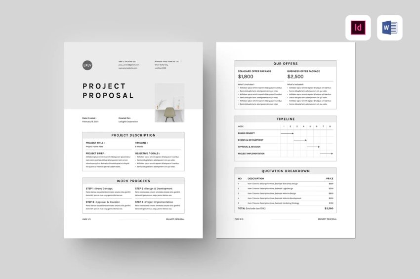 Proposal flow chart template