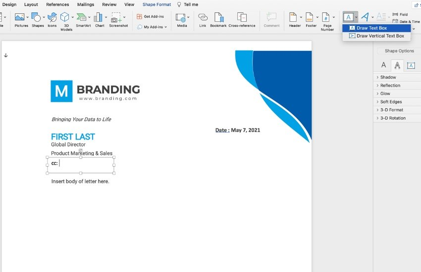 How to create a Microsoft Word template