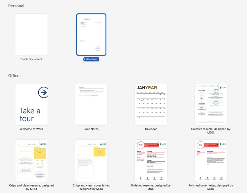 Turn Word doc into template
