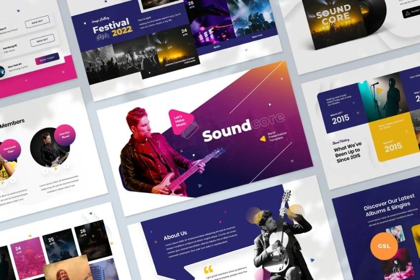 Music band music presentation template