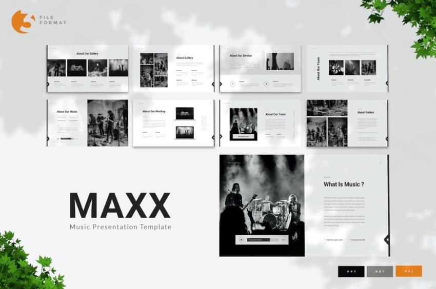 Music presentation template