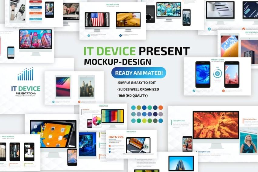 Device mockup 3D PowerPoint