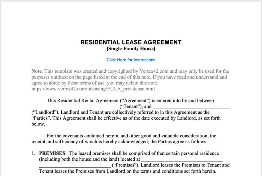 Simple business contract sample