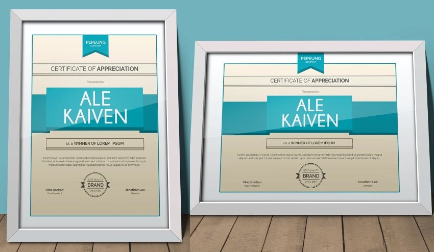 Certificate style