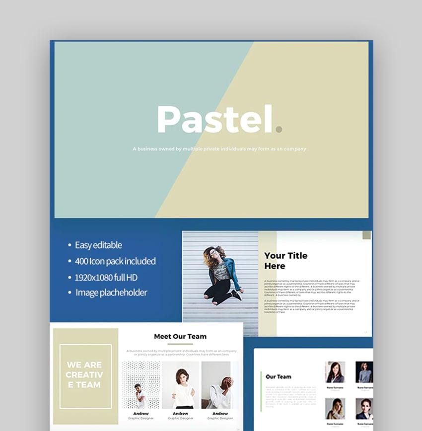 Background PPT pastel