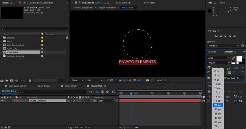 Logo reveal animation