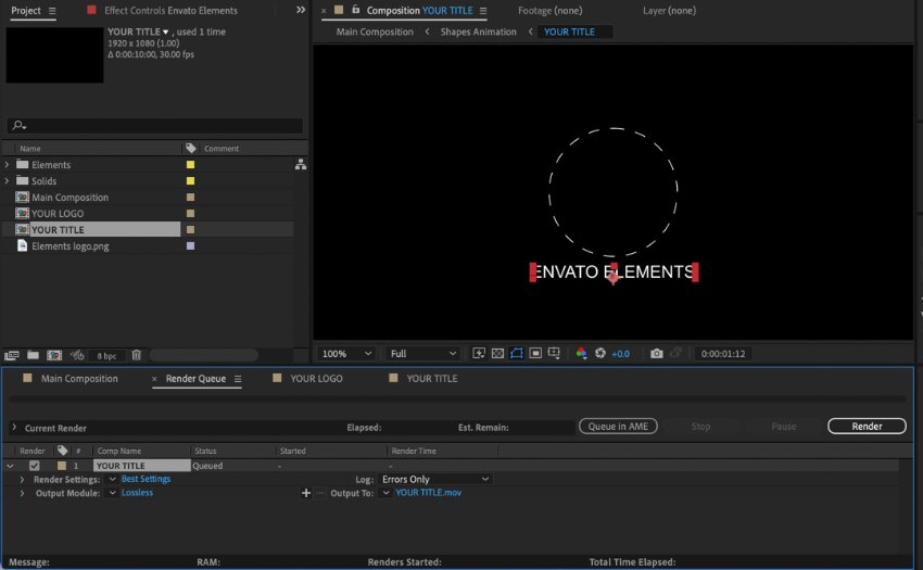 Simple logo animation After Effects