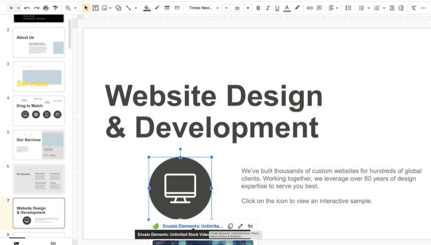 Buttons how to make an interactive Google Slide