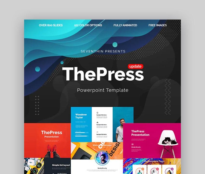 ThePress inspiring PowerPoint templates
