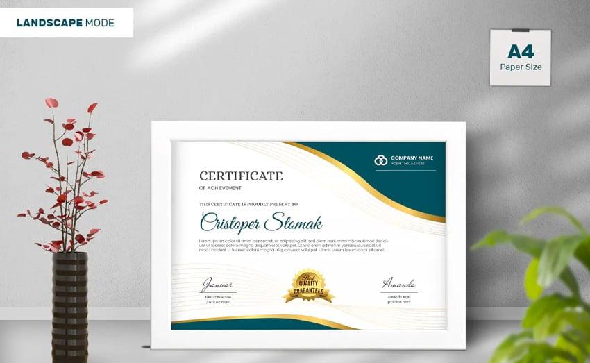 editable certificate template word design seal