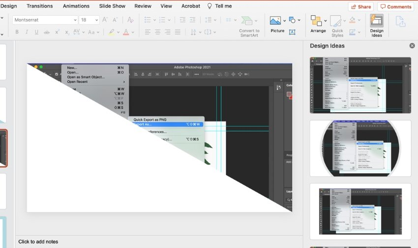 How to turn on Design ideas in PowerPoint
