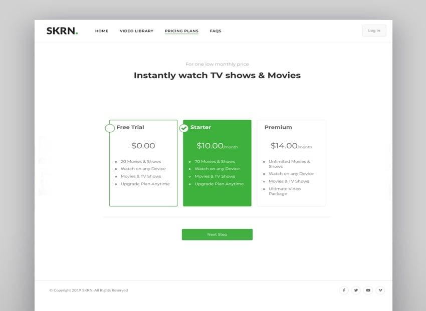 Skrn - Media Streaming Theme